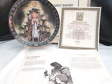 Konigszelt Bayern Sulamith Wulfing Plate The Christmas Child  1986 LE NIB COA