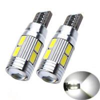 2 x bombillas de coche T10 57 SMD LED ERROR FREE CANBUS XENON Blanco W5W 501 Luz Lateral