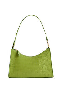 Mango Croc-Effect Baguette Bag