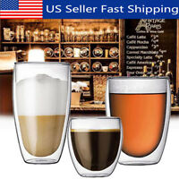 Double Wall Glassware Glass Cup Wine Hot Cold Coffee Mug Kitchen Bar Tea