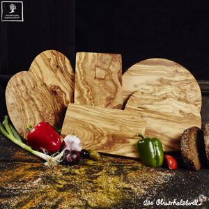 Servierbrett Schneidebrett Olivenholz, Handarbeit Küchenbrett Essbrett Holz