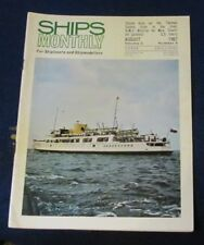 SHIPS MONTHLY AUGUST 1967 - STEAM DAYS ON THE THAMES/JET GUNBOAT