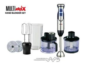 Multimix Quick 9 Pro Hand Blender Black 1000 Watts Stainless Steel not Braun
