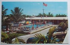 1960'S PHOTO POSTCARD DANKER'S MOTEL COURT WEST ON 41, 8TH ST MIAMI FLORIDA