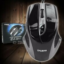 Zalman ZM-GM1 Laser Gaming Mouse 7 Button 800-6000 DPI Wired USB LED Lighting