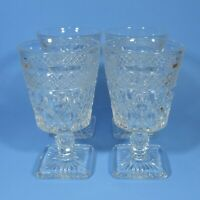 "Imperial Glass CAPE COD Low 5.5"" Water Goblets Set of 4 Clear Goblet Glasses"
