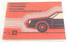 Notice d'instructions OLDSMOBILE CUSTOM CRUISER & Delta 88 stand 1980