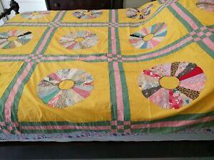 Vintage Dresden Plate Quilt Top