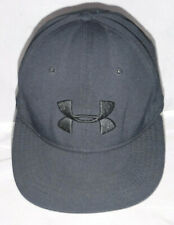 Men's Under Armour Ua Black Fitted Hat Cap sz M/L Golf Baseball