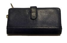 Fossil Ladies Blue Pebble Leather Wallet