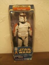 """Star Wars Attack of the Clones 12"""" Red Clone Trooper Figure New In Box"""