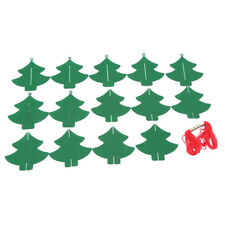 Non Woven Green Christmas Tree Banner Home Party Hanging Ornaments Decors XS