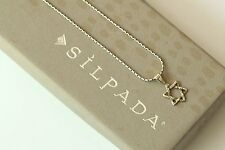 Silpada RARE Tiny Oxidized Sterling Silver Star of David Necklace N1110 HTF