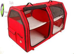 One For Pets Cat Show House Portable Dog Kennel () /Cream/Tan