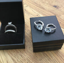 3 Piece Jewelery Set / 2 Rings And Drop Earrings Rings Size 0