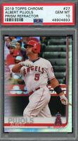 Albert Pujols Los Angeles Angels 2019 Topps Chrome Baseball Card #27 PSA 10