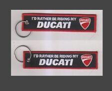 Ducati Keyring Id rather be Riding my Ducati Street Triple FAST UK FREE (E6)