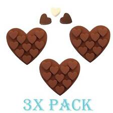 Set 3 Pack Silicone Shape of Heart Love Mold candy Ice cube Chocolate Soap