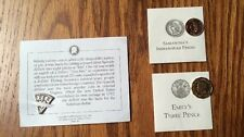 American Girl Emily Three Pence, Felicity Bit coin Samantha's Indian Head penny