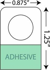 "7/8"" X 1-1/4"" Round Hole Adhesive Hang Tabs - 2999/Pack - Heavy Duty Adhesive Ha"
