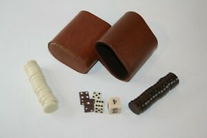 "Complete Set of Backgammon Pieces - 30 3/4"" Magnetic Pieces, 5 Dice and Cups"