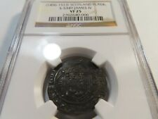 F2 Scotland James IV (1496-1513) Plack NGC VF-25