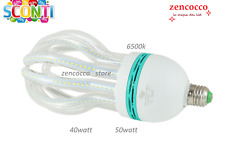 LAMPADA LAMPADINA LED 40 Watt attacco E27 IRIS LOTUS SMD 2835 LUCE BIANCA fredda