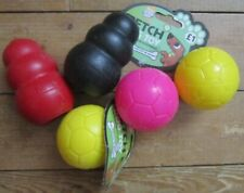 Dog Toy Bundle. Kong Original x 2. Small. 1 x Black, 1 x Red & 3 x Squeaky Balls