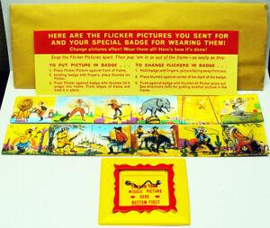 1963 Vari Vue Flicker Badge Mrs. Grass Soup Mailaway Premium Mint Unused
