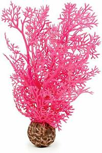 OASE BIORB PLANT SMALL SEA FAN PINK WEIGHTED PLASTIC AQUARIUM DECOR BIO ORB