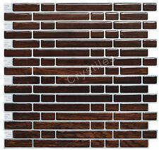 "Crystiles® Peel&Stick Self-Adhesive Tiles, Item# 91010826, 10""X10"", Set of 6"