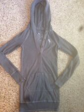 Girls Abercrombie Pullover Hoodie Small Gray Pullover Jacket Ked