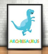 A4 Personalised Dinosaur Print ANY Name Personalised Gift Nameasaurus!