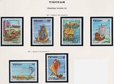 VIETNAM N°381/386** Bateaux à voile, 1983 Vietnam 1248-1253 Boats, sailboats MNH