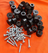 SET OF 32 SMALL 17mm. x 10mm. RUBBER FEET FOR PA SPEAKERS & CABINETS INC. SCREWS