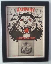 NAZARETH*Rampant*Album*1974*ORIGINAL*POSTER*AD*FRAMED*FAST WORLD SHIP