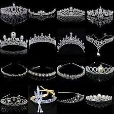 Crystal Tiara Wedding Bridal Bridesmaid Party Princess Headband Crown Headpieces