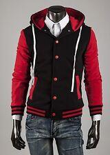 US Seller Men Letterman Varsity Hoodie Jacket College Baseball Casual Coat PK56