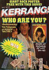 Roger Daltrey on Kerrang No: 105 Cover 1985   Cheap Trick  The Cult  Judie Tzuke