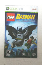 Xbox 360 Lego Batman The Videogame Instruction Booklet Insert Only Microsoft