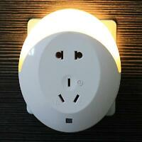 Intelligent Light Control LED Night Light Creative Home Bedside Double Charger