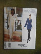 Vogue Paris Original Pantsuit Sewing Pattern 1542 Emanuel Ungaro Size 12-16