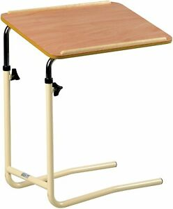 Over Bed Chair Table Adjustable Height Durable Steady Use for Meal Work Activity