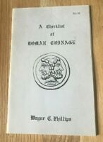 A Checklist of Roman Coinage by Wayne Phillips - Printed 1986 Small Pamphlet