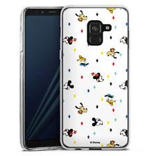 Samsung Galaxy A8 (2018) Silikon Hülle Case - Disney Carnival Pattern