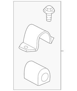 OEM Front Suspension Stabilizer Sway Bar Bushing 00-05 Saturn L-Series 24416249