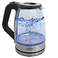 BRAND NEW Dominion 1.7 Liter Royal Glass Electric Tea Kettle (Black)