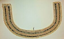 """Antique Victorian Beaded Pearl Collar """"Especially Made For Kimball"""" 9.5"""" ~#11"""