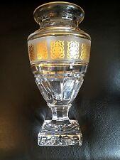 VAL SAINT-LAMBERT - Vase Jupiter - signé -  décoration en or sur frise blanche