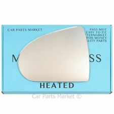 Left passenger side Wing mirror glass for Mitsubishi Colt 2004-12 Heated